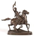 Bronze:Contemporary, A PIERRE-JULES MÊNE (FRENCH, 1810-1879) BRONZE FIGURAL GROUP:FAUCONNIER ARABE À CHEVAL . Paris, France, circa 1890...