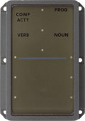 Transportation:Space Exploration, Apollo Program Hardware: Numerical Display Panel from the ApolloGuidance Computer Display and Keyboard (DSKY) Unit....