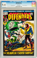 Bronze Age (1970-1979):Superhero, The Defenders #2 (Marvel, 1972) CGC NM 9.4 White pages....