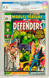Marvel Feature #1 The Defenders (Marvel, 1971) CGC NM+ 9.6 White pages