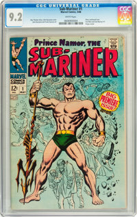 The Sub-Mariner #1 (Marvel, 1968) CGC NM- 9.2 White pages