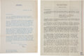 Political:Small Paper (1896-present), Rose F. Kennedy: Archive of Letters from JFK's Mother.... (Total:12 Items)
