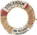 Transportation:Nautical, Life Preserver from the Stockholm, the Ocean Liner WhichCollided With the Andrea Doria. ...