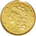 Classic Half Eagles: , 1838-C $5 VF35 PCGS. Breen-6517, Normal 5, Variety 1-A, R.4. Thelowest mintage of the Classic Head half eagle series, at 1...