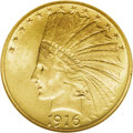 Indian Eagles: , 1916-S $10 MS63 NGC. Frosty peach-gold color highlights this MintState example. Although some hoards have appeared on the ...