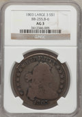 Early Dollars: , 1803 $1 Small 3 AG3 NGC. BB-255, B-6. NGC Census: (0/383). PCGSPopulation (0/364). Mintage: 85,634. Numismedia Wsl. Price ...