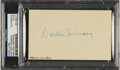 Autographs:Index Cards, 1939 Walter Johnson Signed Index Card....