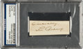 Autographs:Others, 1920's Lou Gehrig Signed Cut Signature....