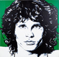 Music Memorabilia:Original Art, Jim Morrison Portrait by Allison Lefcort....