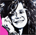 Music Memorabilia:Original Art, Janis Joplin Portrait by Allison Lefcort....