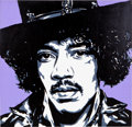 Music Memorabilia:Original Art, Jimi Hendrix Portrait by Allison Lefcort....