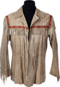 "Movie/TV Memorabilia:Costumes, A John Wayne Jacket from ""The Alamo.""..."