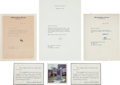 Autographs:Statesmen, Robert F. and Ethel Kennedy: Autographed Letters.... (Total: 9Items)