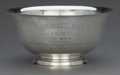 Silver Holloware, American:Bowls, A TIFFANY SILVER TROPHY BOWL . Tiffany & Co., New York, NewYork, circa 1970 . Marks: TIFFANY & CO., MAKERS STERLINGSILVE...