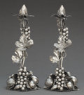 Silver Holloware, Continental:Holloware, A PAIR OF BUCCELLATI SILVER FIGURAL CANDLESTICKS . Buccellati,Milan, Italy, circa 1970. Marks: MARIO BUCCELLATI . 13-1/...(Total: 2 Items)