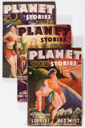 Pulps:Science Fiction, Planet Stories Group (Fiction House, 1946-51) Condition: AverageVG/FN.... (Total: 7 Comic Books)
