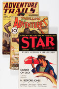 Pulps:Adventure, Miscellaneous Adventure Pulps Group (Various Publishers, 1931-39).... (Total: 4 Comic Books)