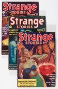 Pulps:Horror, Strange Stories Group (Better Publications, 1939) Condition: Average VG+.... (Total: 3 Comic Books)