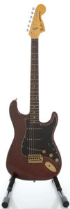 Musical Instruments:Electric Guitars, 1979 Fender Stratocaster Walnut Solid Body Electric Guitar, Serial#S910877....