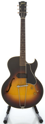 1957 Gibson ES-225T Sunburst Semi-Hollow Body Electric Guitar, Serial #U9829