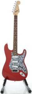 Musical Instruments:Electric Guitars, 1991 Fender Stratocaster USA Candy Apple Red Solid Body Electric Guitar, Serial #N1067328....