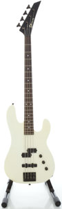 Musical Instruments:Bass Guitars, Circa 1980's Charvel White Electric Bass Guitar, Serial #291415....