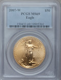 Modern Bullion Coins, 2007-W $50 One-Ounce Gold Eagle MS69 PCGS. PCGS Population(450/178). Numismedia Wsl. Price for problem...