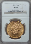 Liberty Double Eagles: , 1892-S $20 MS62 NGC. NGC Census: (1411/407). PCGS Population(1218/654). Mintage: 930,150. Numismedia Wsl. Price for proble...