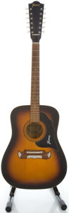 Musical Instruments:Acoustic Guitars, 1960's Framus Sunburst 12 String Acoustic Guitar, Serial #89480....