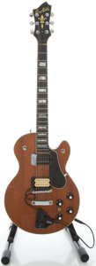 Musical Instruments:Electric Guitars, 1970's Hagstrom Swede Mahogany Solid Body Electric Guitar, Serial #53 938007....