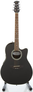 Musical Instruments:Acoustic Guitars, Ovation Celebrity GC 057 Black Acoustic Electric Guitar, Serial#5505162....