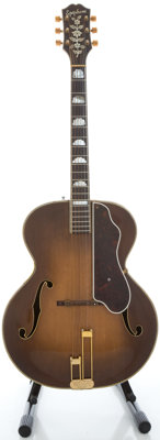 Circa: 1940's Epiphone De Luxe Refinished Archtop Acoustic Guitar