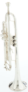 Musical Instruments:Horns & Wind Instruments, Circa 1990's Bach Stradivarius Model 72 Silver Trumpet, Serial #385426....