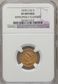 Liberty Quarter Eagles, 1878-S $2 1/2 --Improperly Cleaned--NGC Details. XF. NGC Census:(1/587). PCGS Population (6/380). Mintage: 178,000. Numisme...