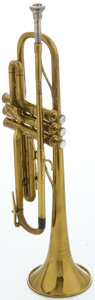 Musical Instruments:Horns & Wind Instruments, Circa 1947 The Martin Committee Brass Trumpet, Serial #157573....
