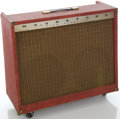 Musical Instruments:Amplifiers, PA, & Effects, 1960's Magnatone Custom 460 Red Guitar Amplifier....