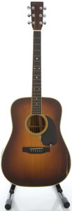 Musical Instruments:Acoustic Guitars, 1975 Martin D-35 Sunburst Acoustic Guitar, Serial #364494....