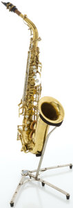 Musical Instruments:Horns & Wind Instruments, Circa 1945 Buescher 400 Model Brass Alto Saxophone, Serial #301968....
