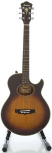 Musical Instruments:Acoustic Guitars, Early 1980's Ibanez AE405TV Sunburst Acoustic Electric Guitar,Serial #830407701....