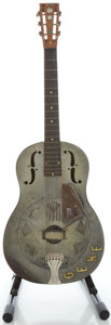 Musical Instruments:Acoustic Guitars, Circa: 1933 National Duolian Frosted Duco Resonator Guitar, Serial#C 6007....