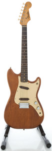Musical Instruments:Electric Guitars, 1960 Fender Duo-Sonic Refinished Solid Body Electric Guitar, Serial#48792....