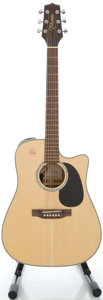 Musical Instruments:Acoustic Guitars, Takamine EG530SSC Natural Acoustic Electric Guitar, Serial#5011798....