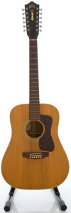Musical Instruments:Acoustic Guitars, Circa 1975 Guild G212 Natural 12 String Acoustic Guitar, Serial#114649....