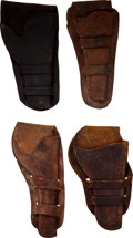 Western Expansion:Cowboy, Western Gear: Holsters.... (Total: 4 Items)