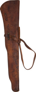 Western Expansion:Buffalo Soldiers, Leather Rifle Saddle Holster,...