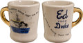 "Movie/TV Memorabilia:Memorabilia, A John Wayne Coffee Mug from ""The Wings of Eagles.""..."