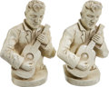 Music Memorabilia:Memorabilia, Elvis Presley Vintage Bookends.... (Total: 2 Items)