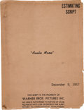 "Movie/TV Memorabilia:Memorabilia, A Script from ""Auntie Mame.""..."