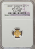 California Fractional Gold: , 1880/70 50C Indian Round 50 Cents, BG-1067, Low R.4, -- Scratched-- NGC Details. Unc. NGC Census: (0/3). PCGS Population (...