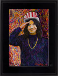 Music Memorabilia:Photos, Grateful Dead - Jerry Garcia Painted Gene Anthony Photo Print(1996)....